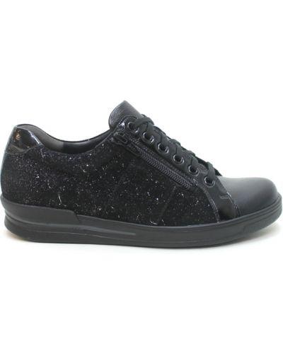 Czarne sneakersy skorzane Durea