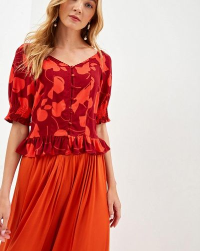 Блузка с коротким рукавом весенний красная Top Secret