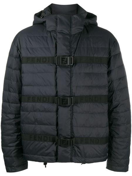 Puchowa klasyczny czarny kurtka Fendi