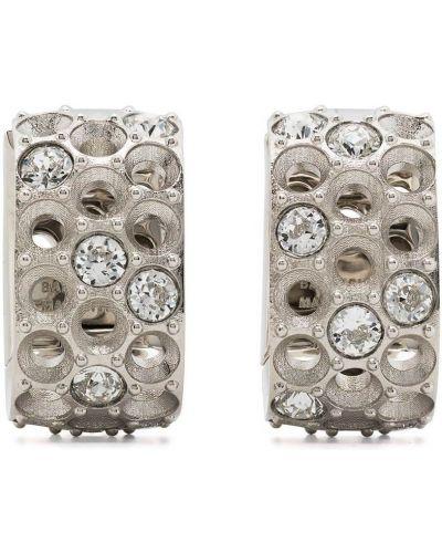 Серебряные серьги Balenciaga