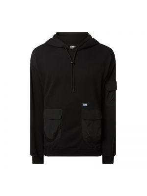 Prążkowana czarna bluza z kapturem Urban Classics