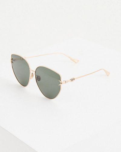 Зеленые солнцезащитные очки Christian Dior