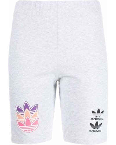 Хлопковые шорты - серые Adidas