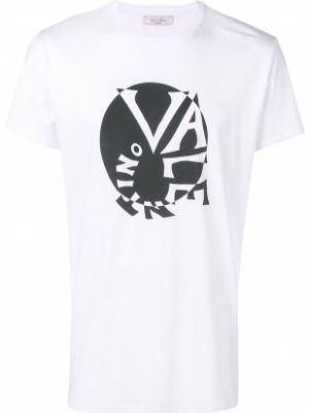 Koszula krótkie z krótkim rękawem z logo z nadrukiem Valentino