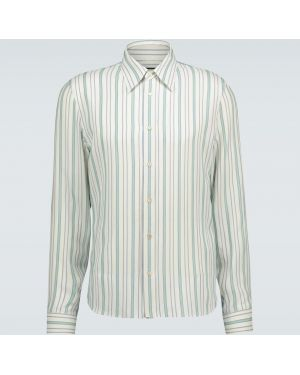 Koszula klasyczna w paski z paskami Gucci