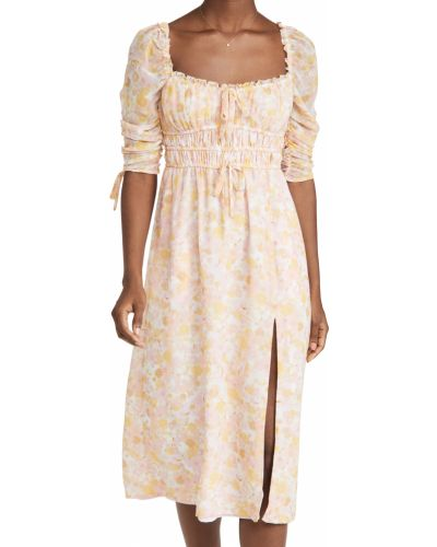 Текстильное платье миди на шпильке с декольте For Love & Lemons