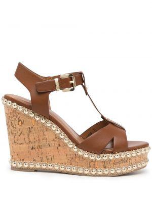 Brązowe sandały peep toe Carvela