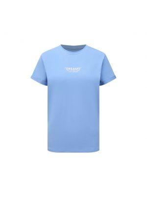 Хлопковая синяя футболка Seven Lab