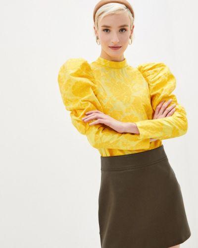 Желтая блузка с оборками Sister Jane