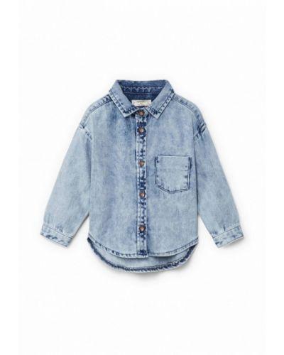 Джинсовая рубашка голубой Mango Kids