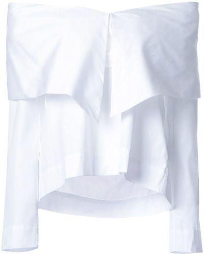 Блузка с открытыми плечами - белая Isa Arfen