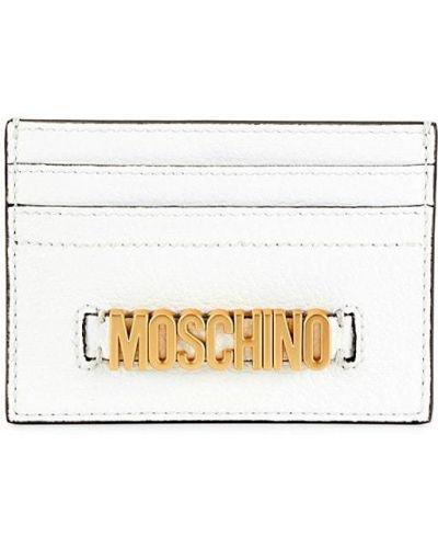 Кожаная ключница - белая Moschino