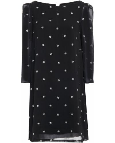 Czarna sukienka z haftem Claudie Pierlot