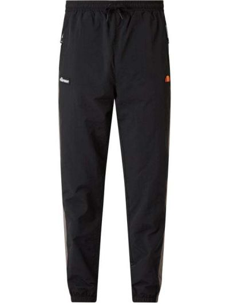 Czarne spodnie w paski z nylonu Ellesse