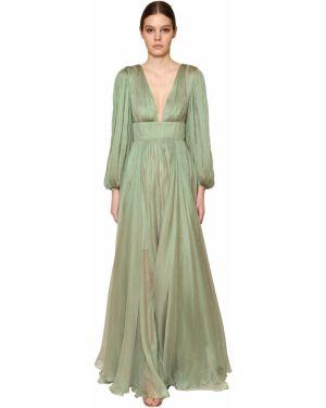 Платье макси длинное - зеленое Maria Lucia Hohan
