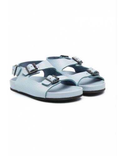 Niebieskie sandały skorzane peep toe Gallucci Kids