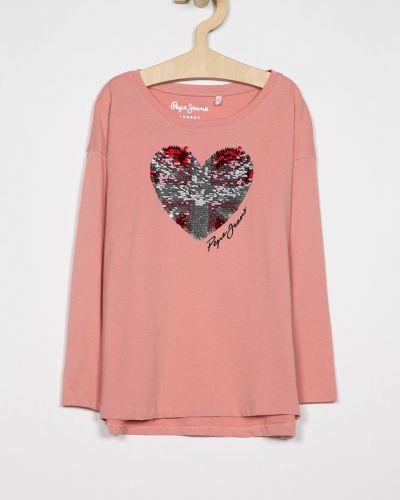 Блуза с пайетками из вискозы Pepe Jeans