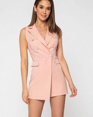 Розовый комбинезон с шортами сноубордический Itelle