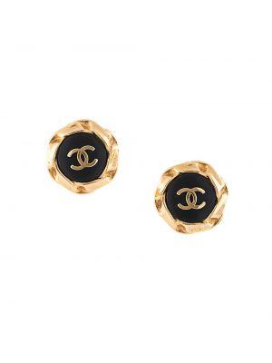 Серьги золотые круглые позолоченные Chanel Pre-owned