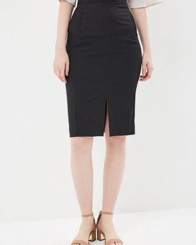 Прямая черная юбка карандаш Ruxara