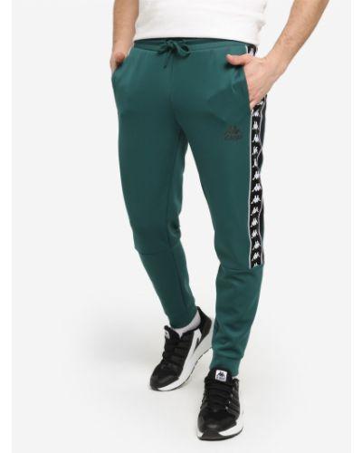 Зеленые спортивные брюки с поясом свободного кроя Kappa