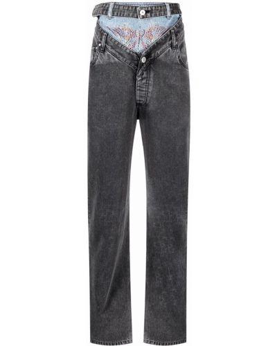 Прямые серые джинсы классические с карманами Y Project
