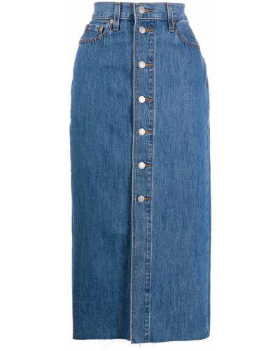 Синяя джинсовая юбка с разрезом с карманами на пуговицах Levi's®