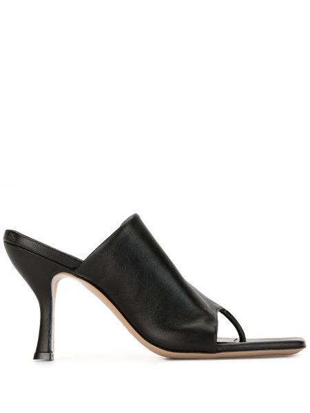Мюли на каблуке - черные Gia Couture