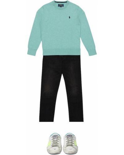 Klasyczny zielony sweter bawełniany Polo Ralph Lauren Kids