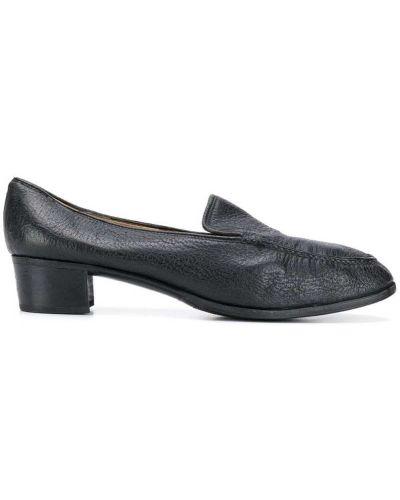 Лоферы на каблуке черные Gucci Pre-owned