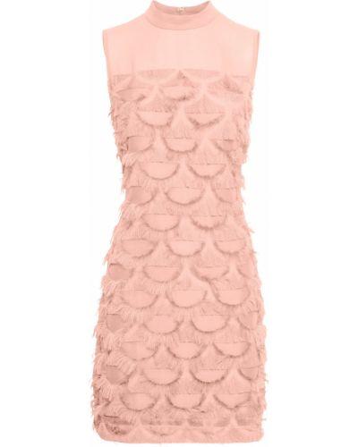 Платье с бахромой розовое Bonprix