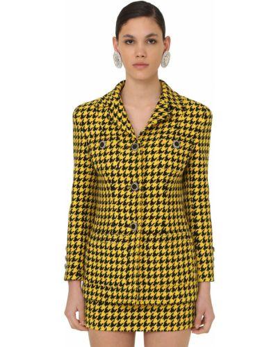 Желтая лаковая куртка на кнопках Alessandra Rich