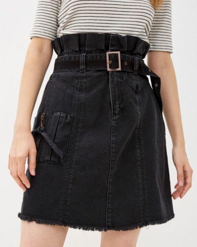 Джинсовая юбка - черная Trendyol