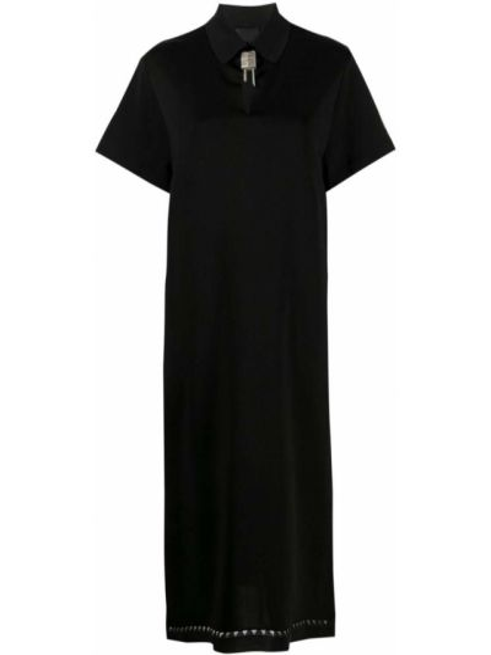 Sukienka midi bawełniana - czarna Givenchy