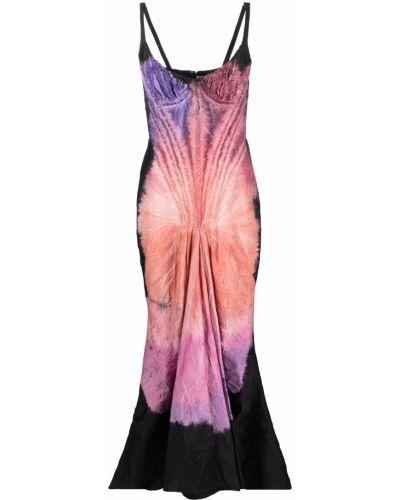 Вечернее платье с принтом - черное Marni