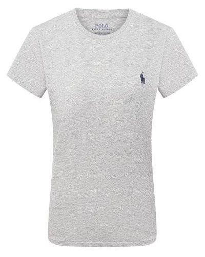 Хлопковая футболка - серая Polo Ralph Lauren