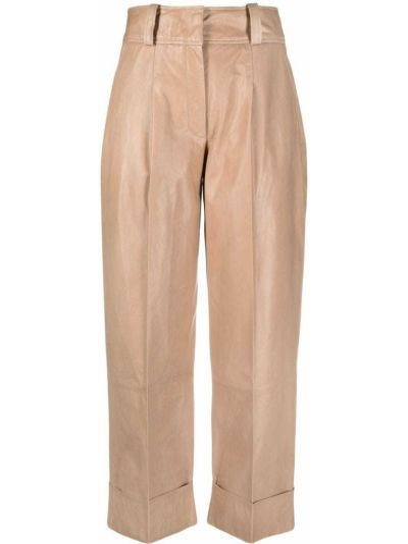Кожаные укороченные брюки с потайной застежкой Arma