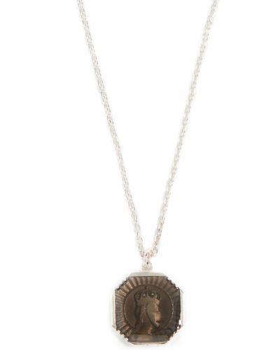 Szary naszyjnik srebrny Miansai