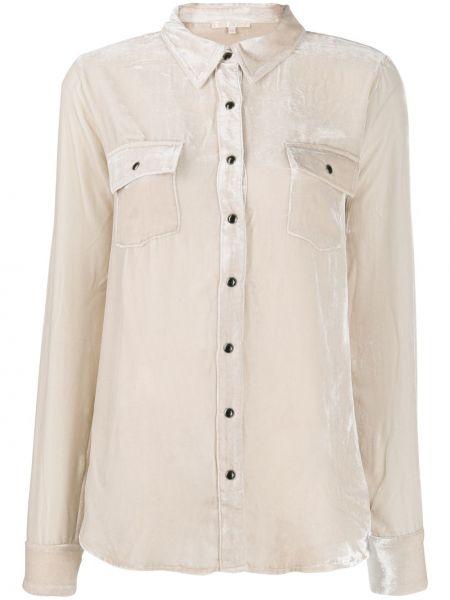 Biała koszula z długimi rękawami z wiskozy Gold Hawk