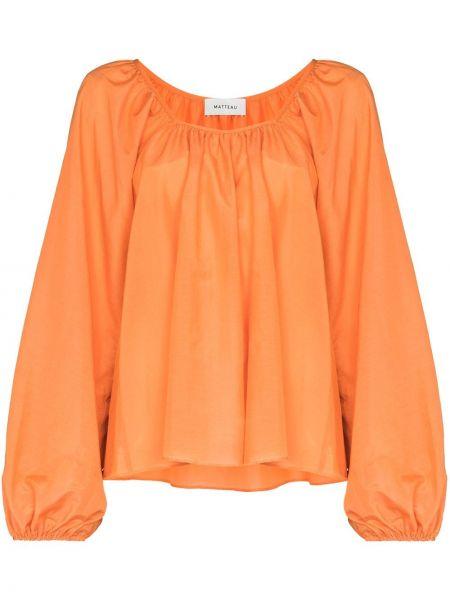 Хлопковая блузка Matteau