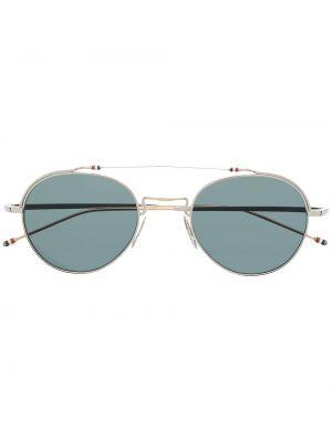 Серебряные солнцезащитные очки Thom Browne Eyewear