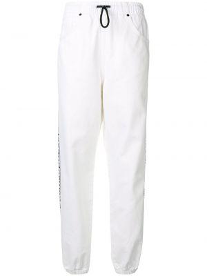 Белые спортивные брюки с воротником с карманами с высокой посадкой Alexander Wang