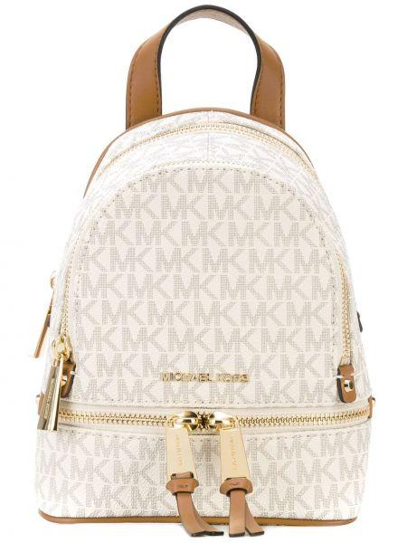 Кожаный рюкзак - бежевый Michael Michael Kors