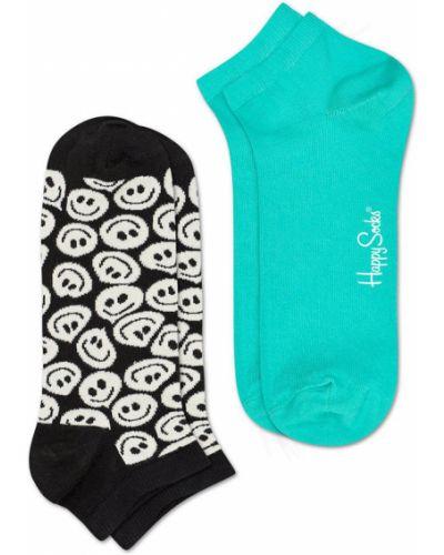 Короткие носки хлопковые с узором Happy Socks