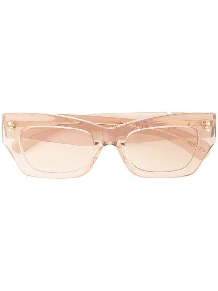 Муслиновые телесные солнцезащитные очки квадратные Pared Eyewear