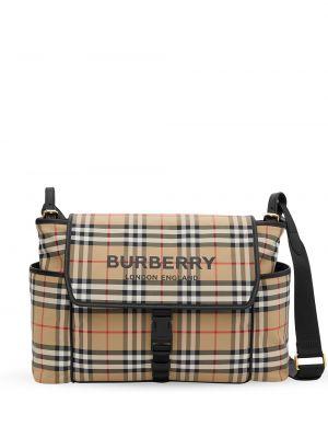 Klasyczna czarna torebka bawełniana Burberry Kids