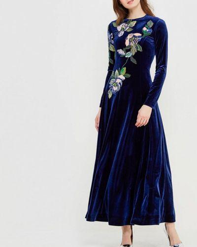 Платье осеннее синее Yukostyle