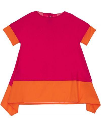 Хлопковое платье - розовое Il Gufo