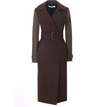 Пальто зеленое шерстяное Victoria Beckham