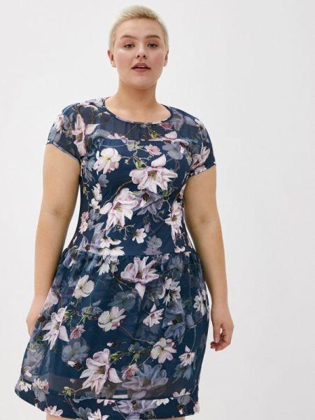 Синее повседневное платье Kontaly